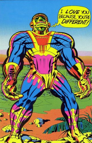 jack kirby I love you because youre different