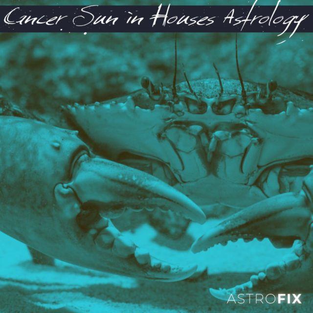 Cancer Zodiac Sun in Houses Astrology AstroFix