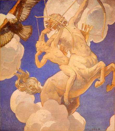 Chiron and Achilles by John Singer Sargent