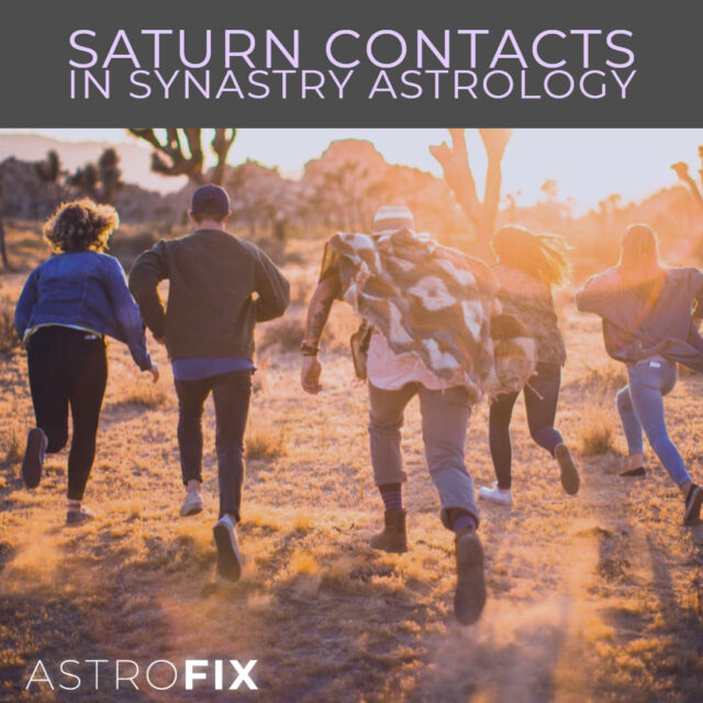 Saturn Contacts in Synastry Astrology